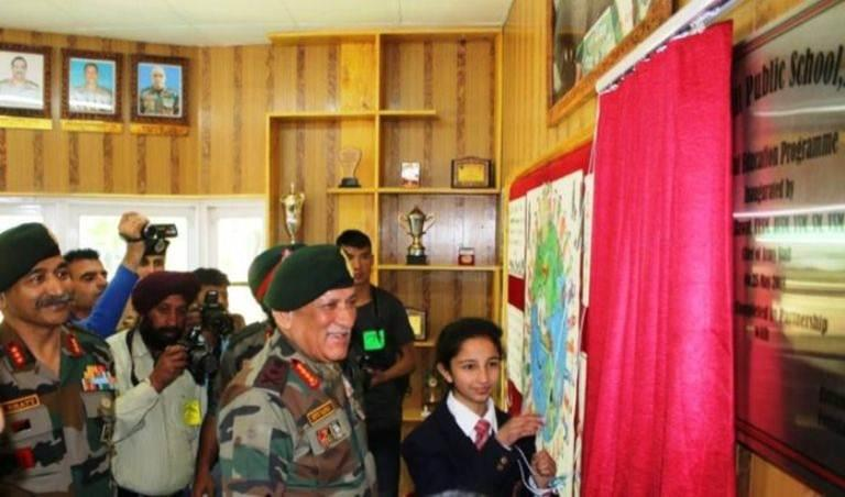 General Bipin Rawat, Chief of the Army Staff today ON 25 May 2018 inaugurated the Digital Education Program at Army Goodwill Public School, Pahalgam